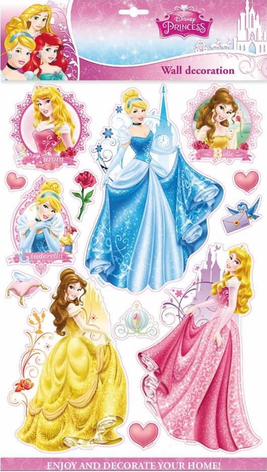 Samolepky na stěnu Disney Princezny 3D 40x29cm