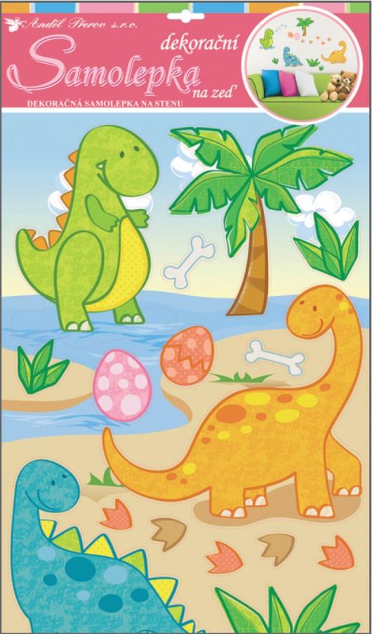 Samolepky na stěnu dinosauři 50x32cm