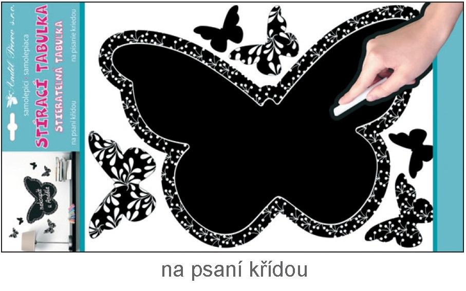 Tabulka samolepka na psaní křídou motýl 40x29cm (10135)