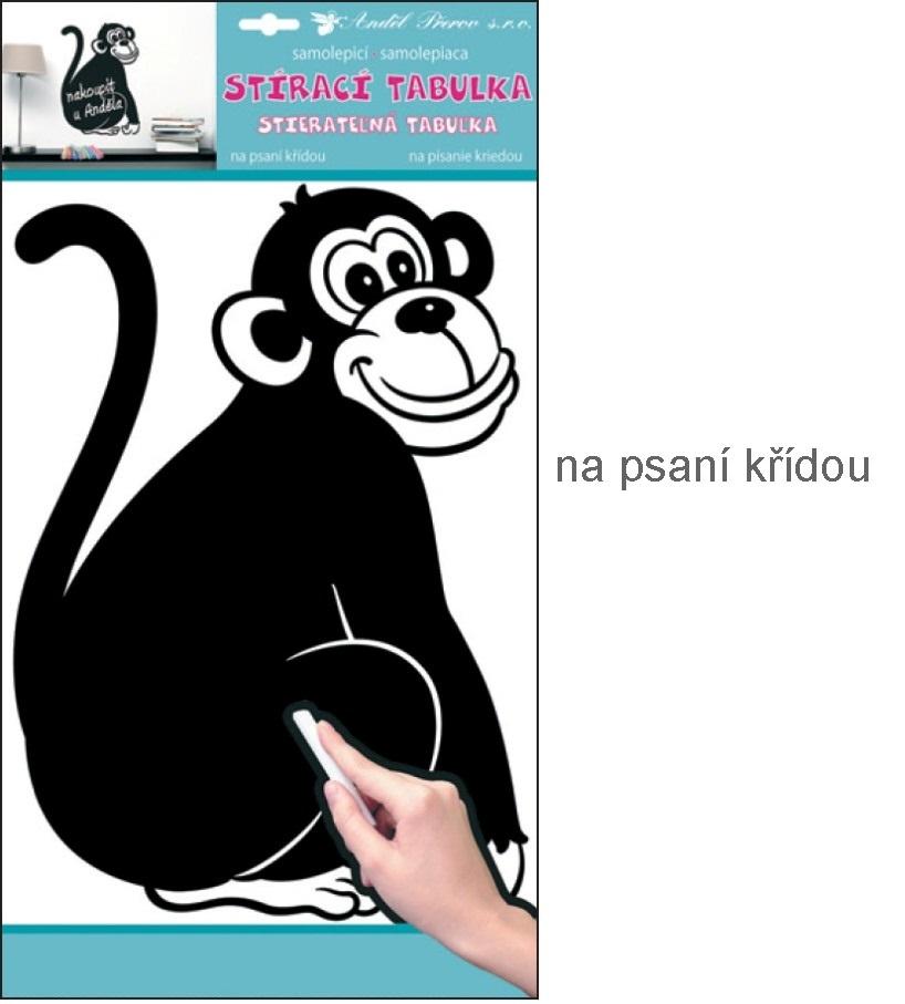 Tabulka samolepka na psaní křídou opice 40x29cm (10137)