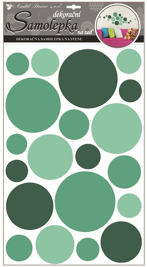 Samolepky na stěnu kolečka zelená 50x32 cm (10168)