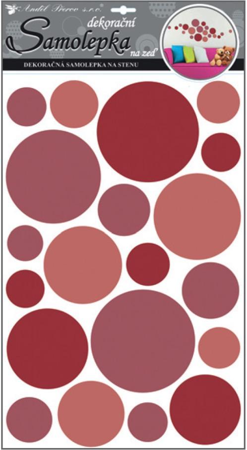 Samolepky na stěnu kolečka červená 50x32 cm (10170)