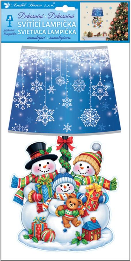 Svítící LED lampička samolepicí  sněhuláci 31 cm