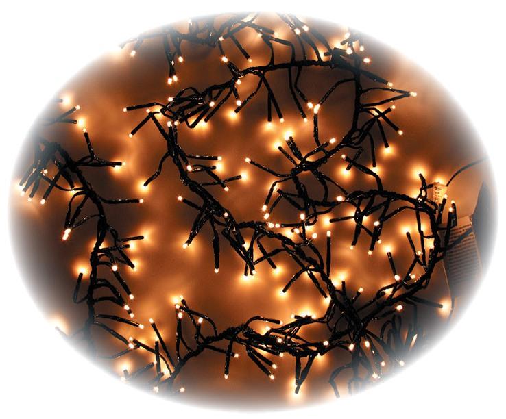Osvětlení vánoční JEŽEK 2,4m - 288 LED teplá bílá + 5m přívodní kabel