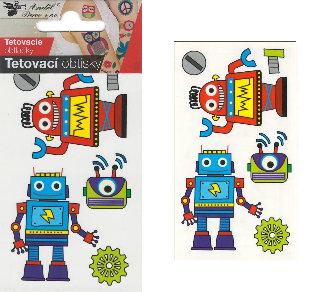 Obtisky tetovací 10,5x6 cm- roboti