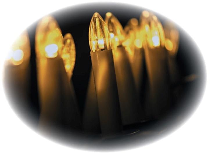 Osvětlení svíčky na klipu 7m-20 LED teplá bílá + 7m přívodní kabel (11062)
