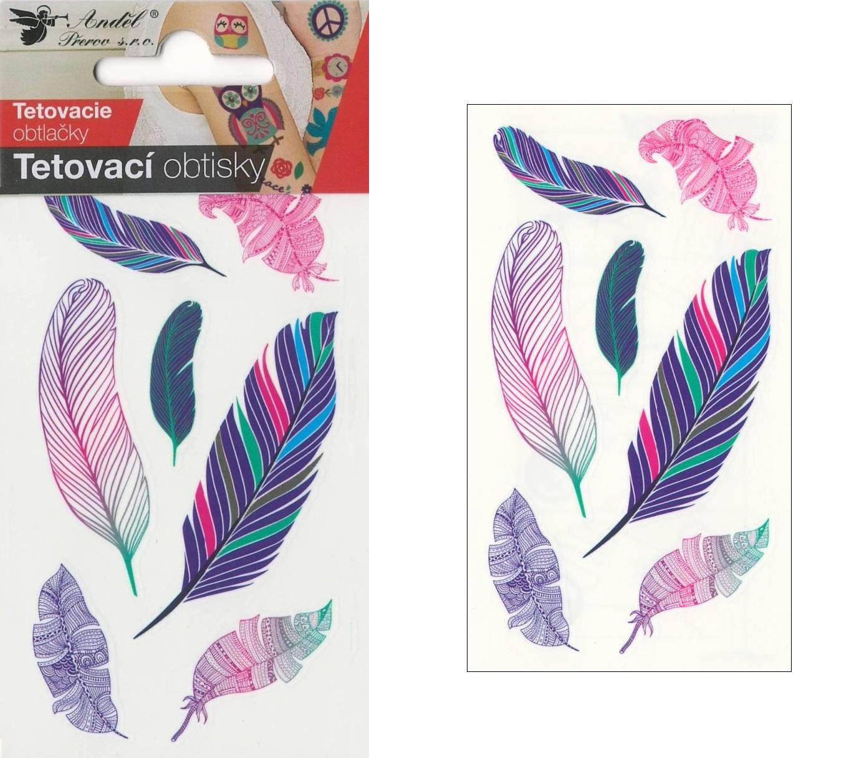 Obtisky tetovací 10,5x6 cm- pírka