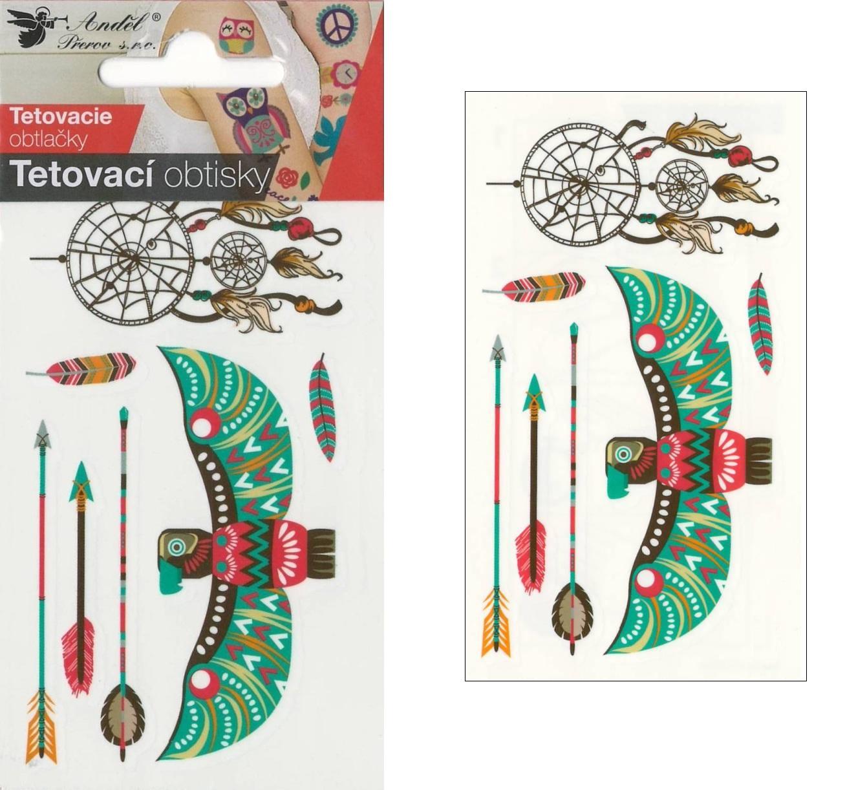 Obtisky tetovací 10,5x6 cm- lapač snů
