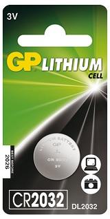 Baterie knoflíková CR2032, 3V, Lithium