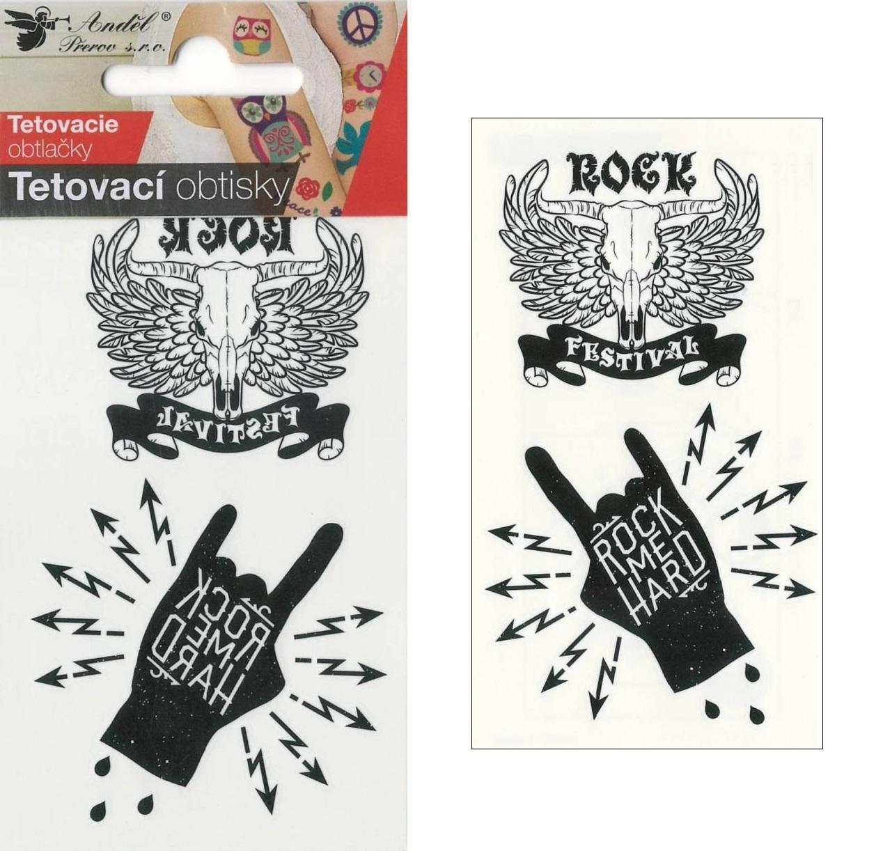 Obtisky tetovací 10,5x6 cm- Rock