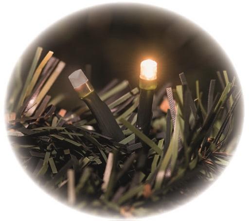 Osvětlení světluška řetěz 12 m -120 LED jantarová + 5m přívodní kabel s časovačem
