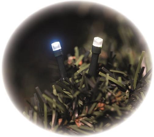 Osvětlení světluška řetěz 12 m -120 LED studená a teplá bílá + 5m přívodní kabel s časovačem