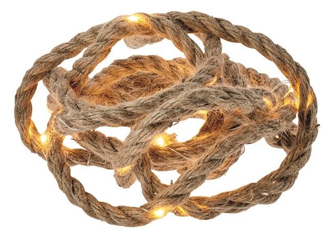 Osvětlení provaz 3 m, teplá bílá + časovač