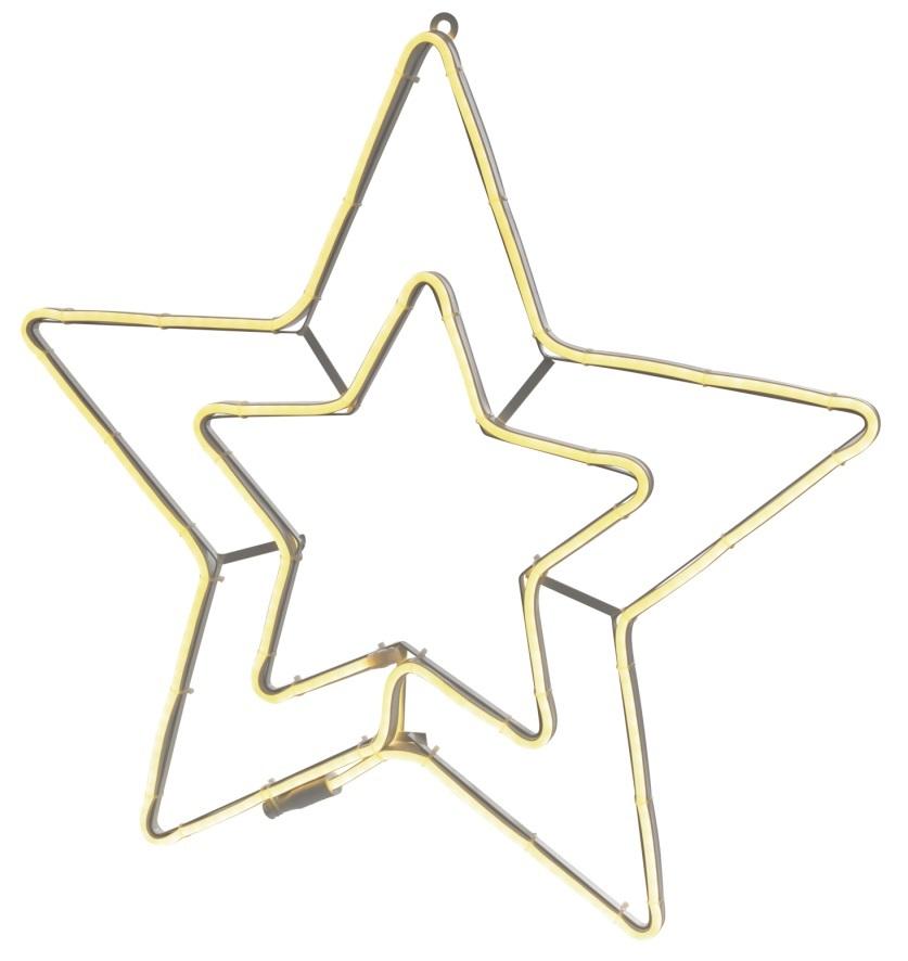 Hvězda svítící 56 cm, pás + 2 m přívodní kabel