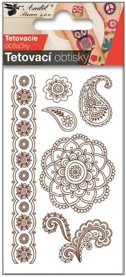 Obtisky tetovací 10,5x6 cm-Mandala