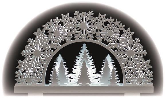Dekorace les na postavení 31,5 x 20 cm - 11 LED teplá bílá + časovač
