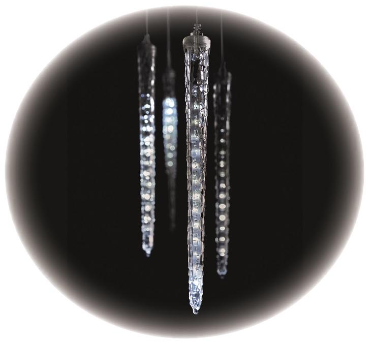 Rampouchy s padajícím efektem řetěz 3,6 m, 140 LED studená bílá