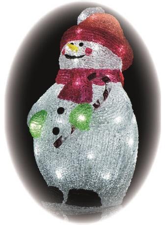 Sněhulák ledový 29 x 17,5 cm- 40 LED + 5 m přívodní kabel + časovač