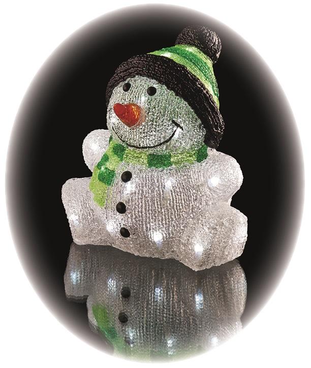 Sněhulák ledový 24 × 20 × 24 cm- 30 LED + časovač