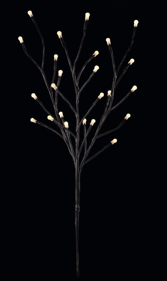 Osvětlení větve 60 cm, 24 LED, teplá bílá + 0,3 m přívodní kabel + časovač 11411