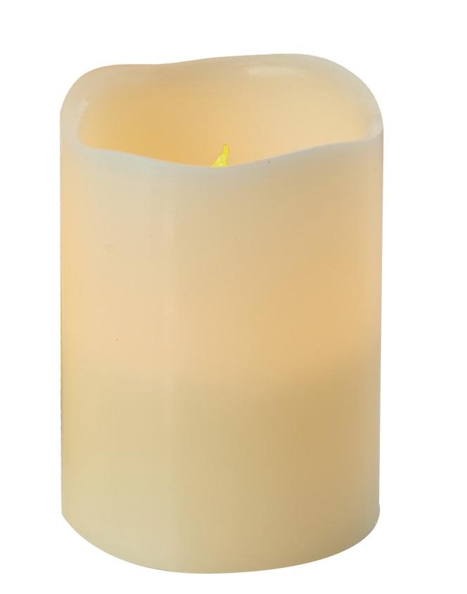 Svíčka LED svítící jantarová, 10 x 8 cm