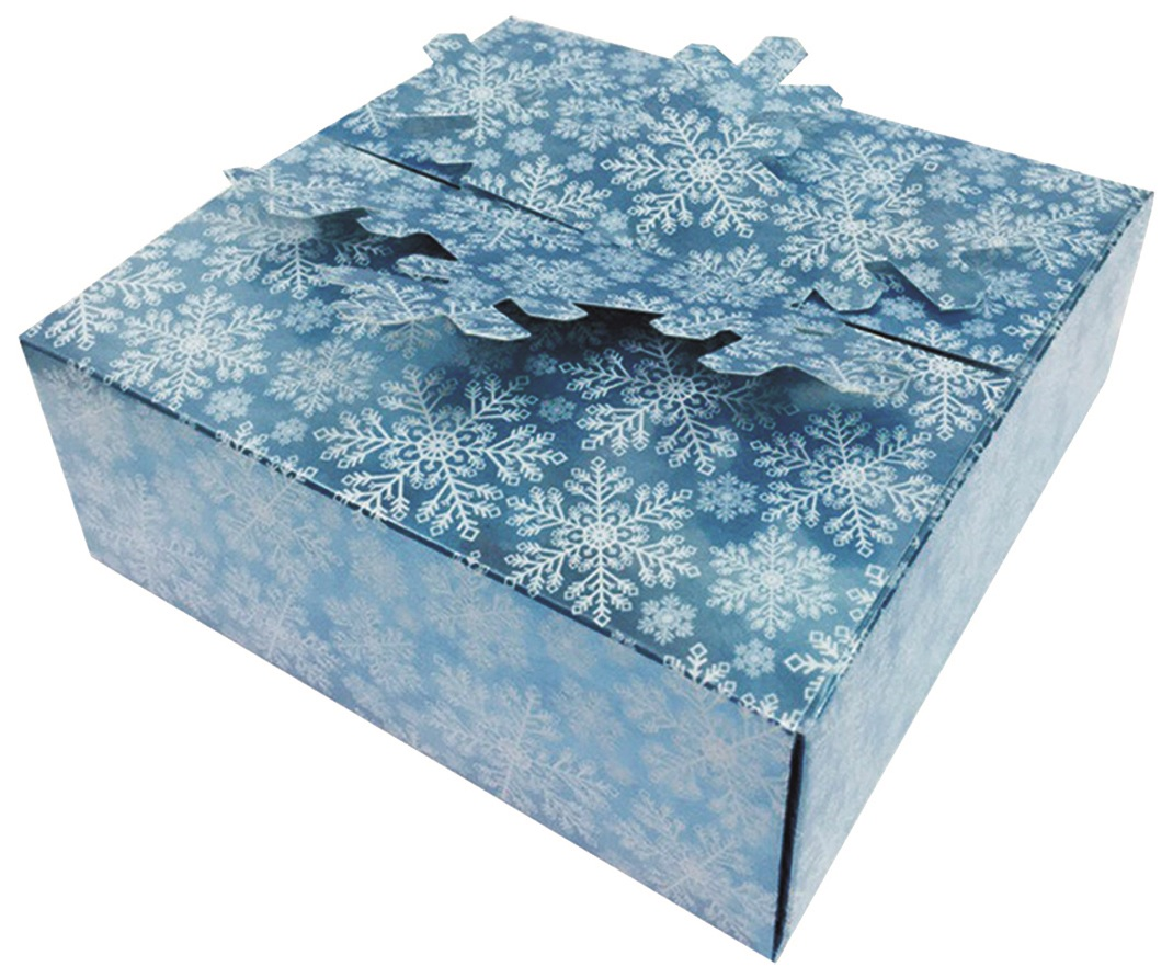 Skládací krabička dárková modrá 15x15x5 cm (12900)