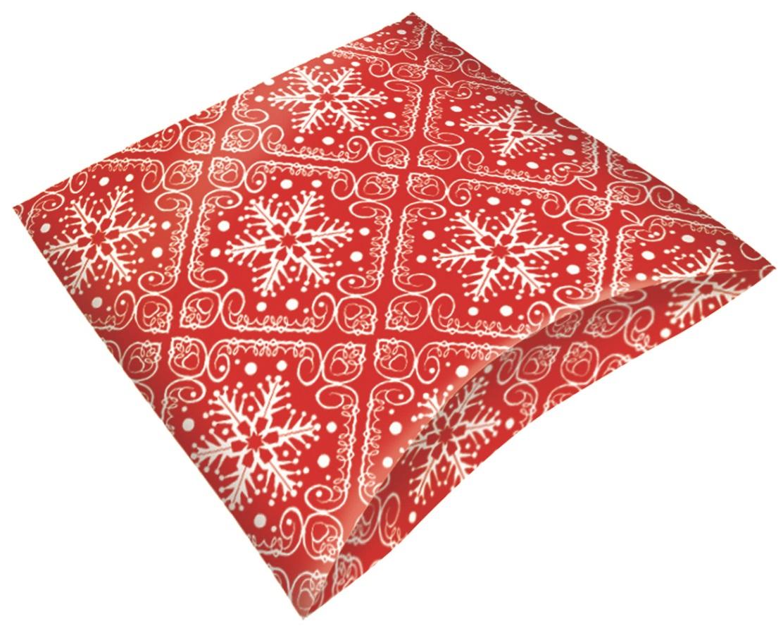 Skládací krabička dárková červená 16 x 12 x 3,5 cm