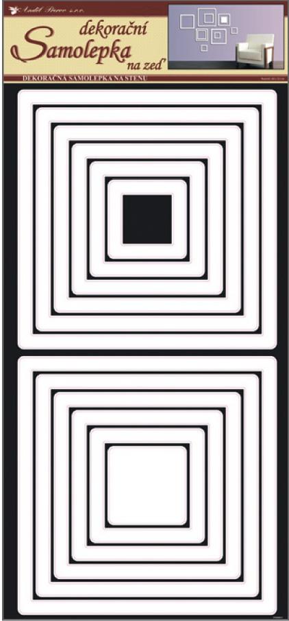 Samolepky na stěnu čtverce bílé, 60x32 cm