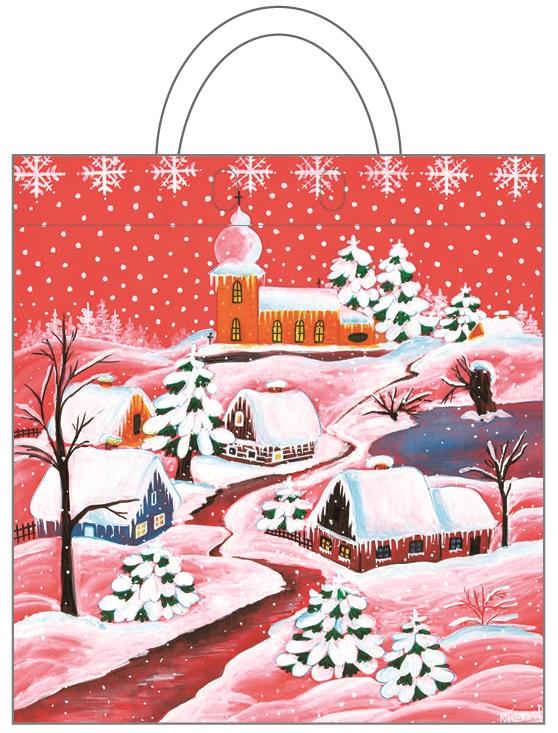 Igelitová taška - 2. Zasněžená vesnička (1358-02)
