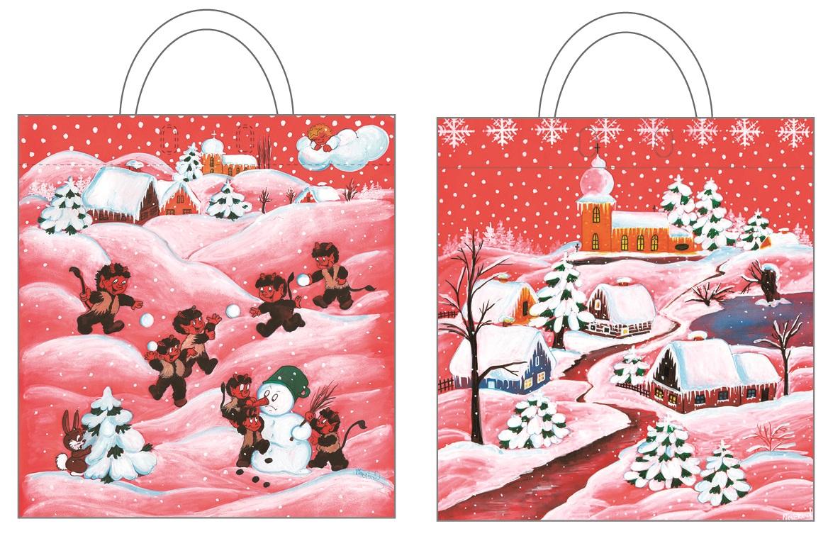 Igelitová taška červená 48 x 44 cm