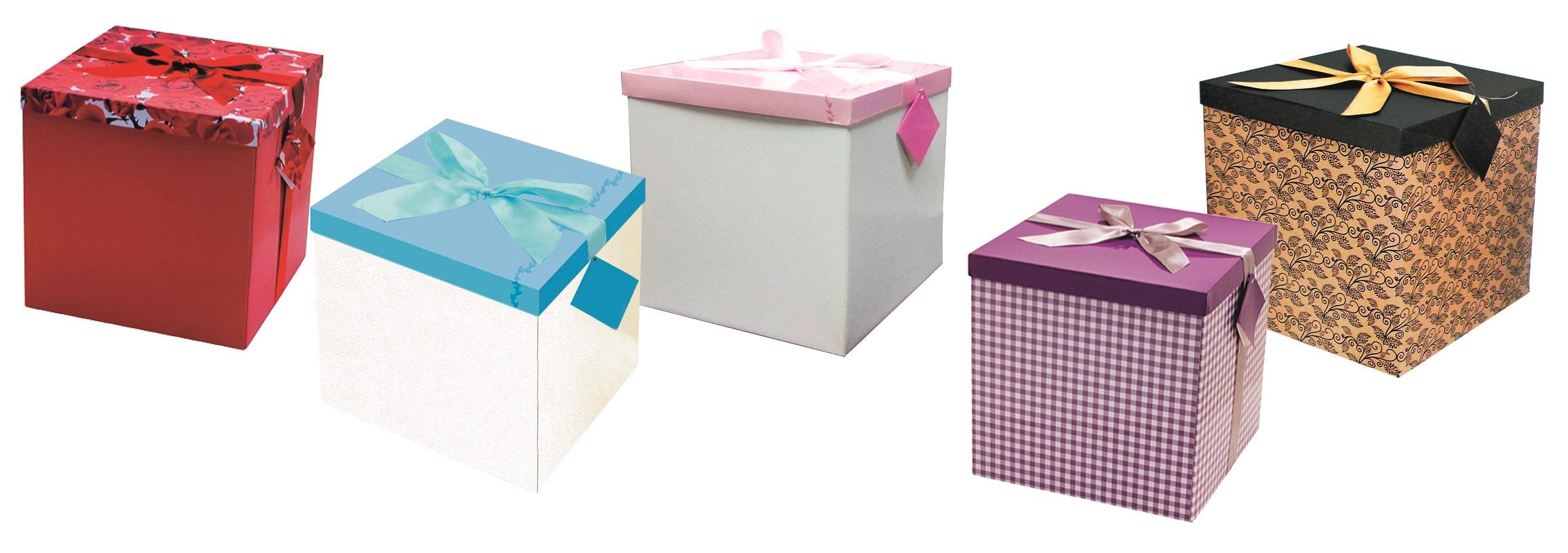 Dárková skládací krabička s mašlí celoroční XXL 30x30x30cm