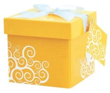 Dárková krabička - 1. ŽLUTÁ