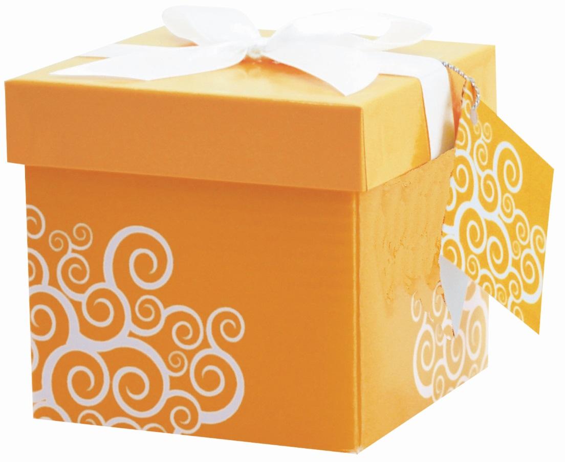 Dárková krabička - 2. ORANŽOVÁ