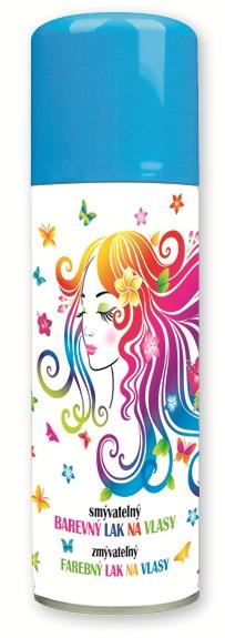 Lak barevný  na vlasy smývatelný 125 ml- 6. SVĚTLE MODRÝ (141-01)
