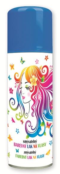 Lak barevný  na vlasy smývatelný 125 ml- 7. TMAVĚ MODRÝ (141-01)