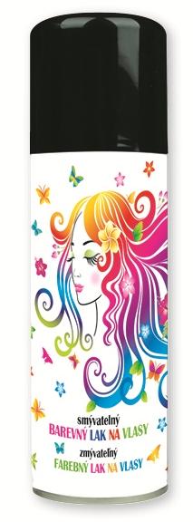 Lak barevný  na vlasy smývatelný 125 ml - 10. ČERNÝ (141-01)