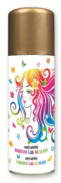 Lak barevný  na vlasy smývatelný 125 ml - 11. ZLATÝ (141-01)