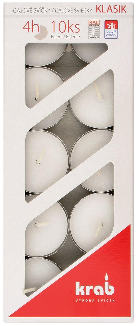 Čajová svíčka 10 ks po 14 g, 4 hodiny, v krabičce
