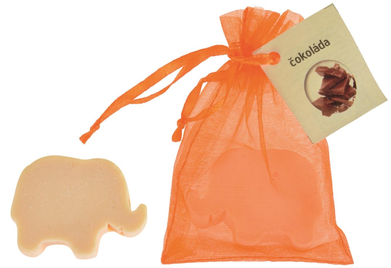 Mýdlo vonné glycerínové slon čokoláda, 20 g