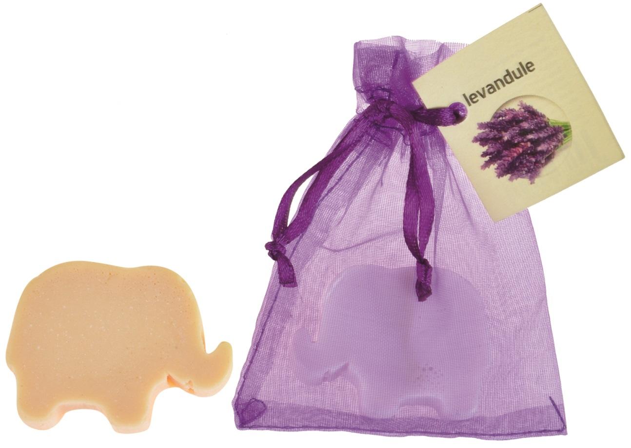 Mýdlo vonné glycerínové slon levandule, 20 g