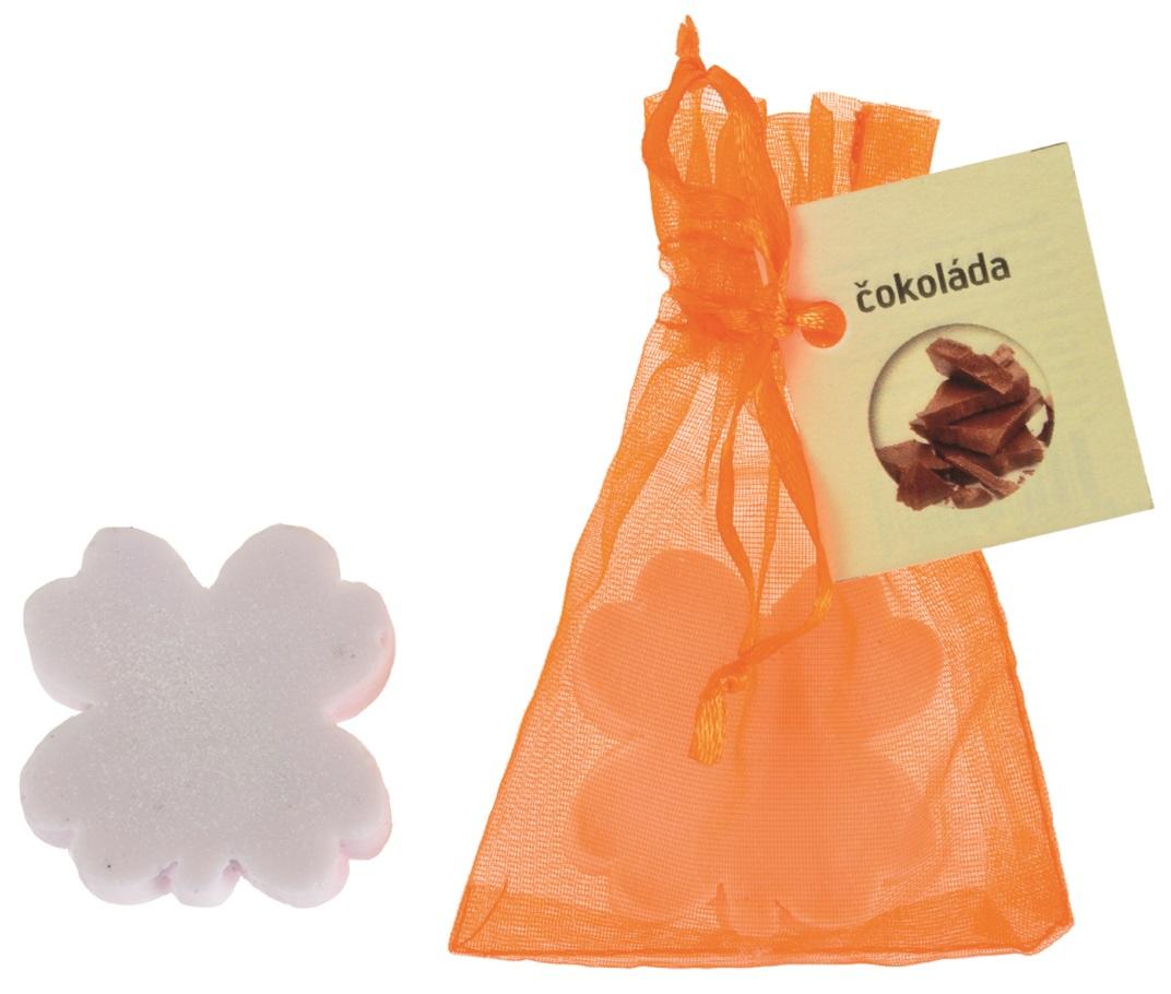 Mýdlo vonné glycerínové čtyřlístek čokoláda, 20 g