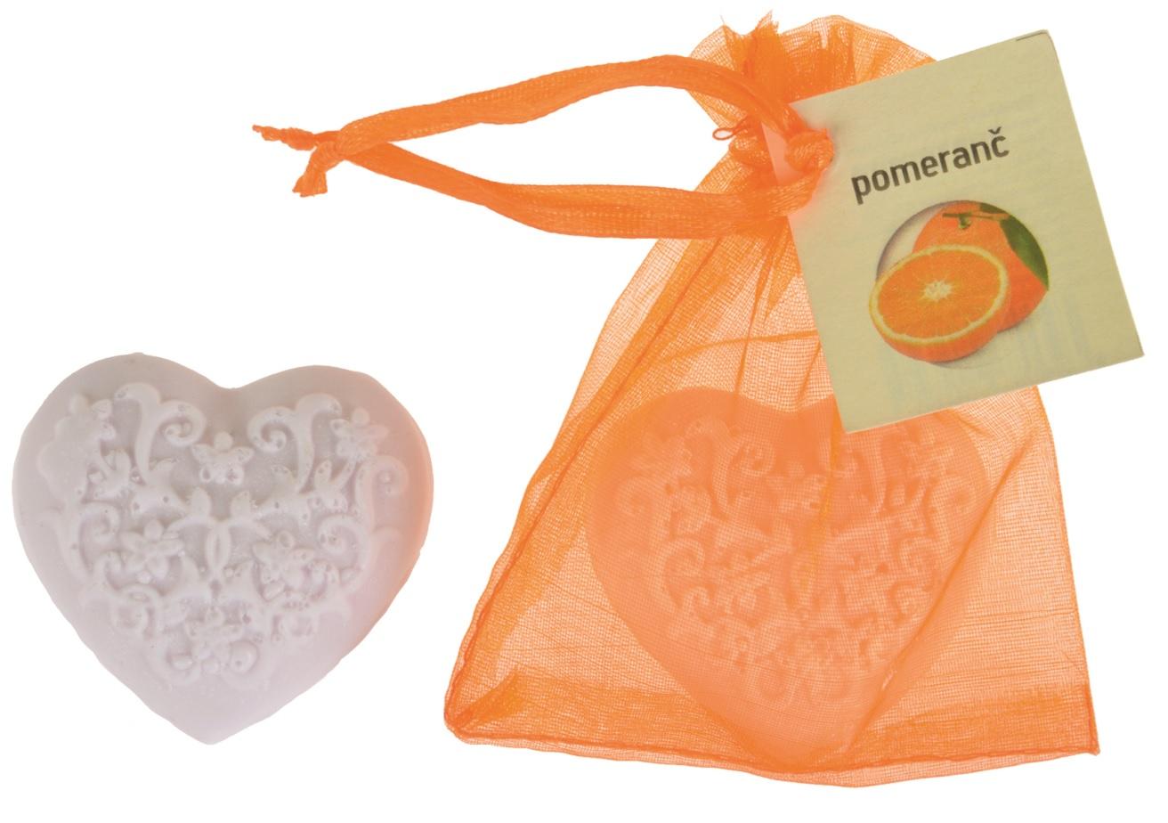 Mýdlo vonné glycerínové srdíčko pomeranč, 20 g