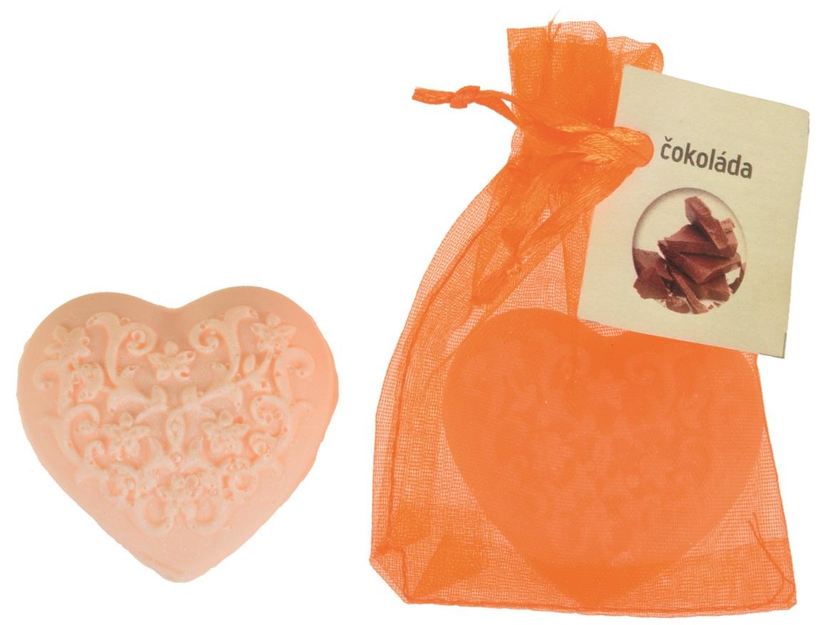 Mýdlo vonné glycerínové srdíčko čokoláda, 20 g