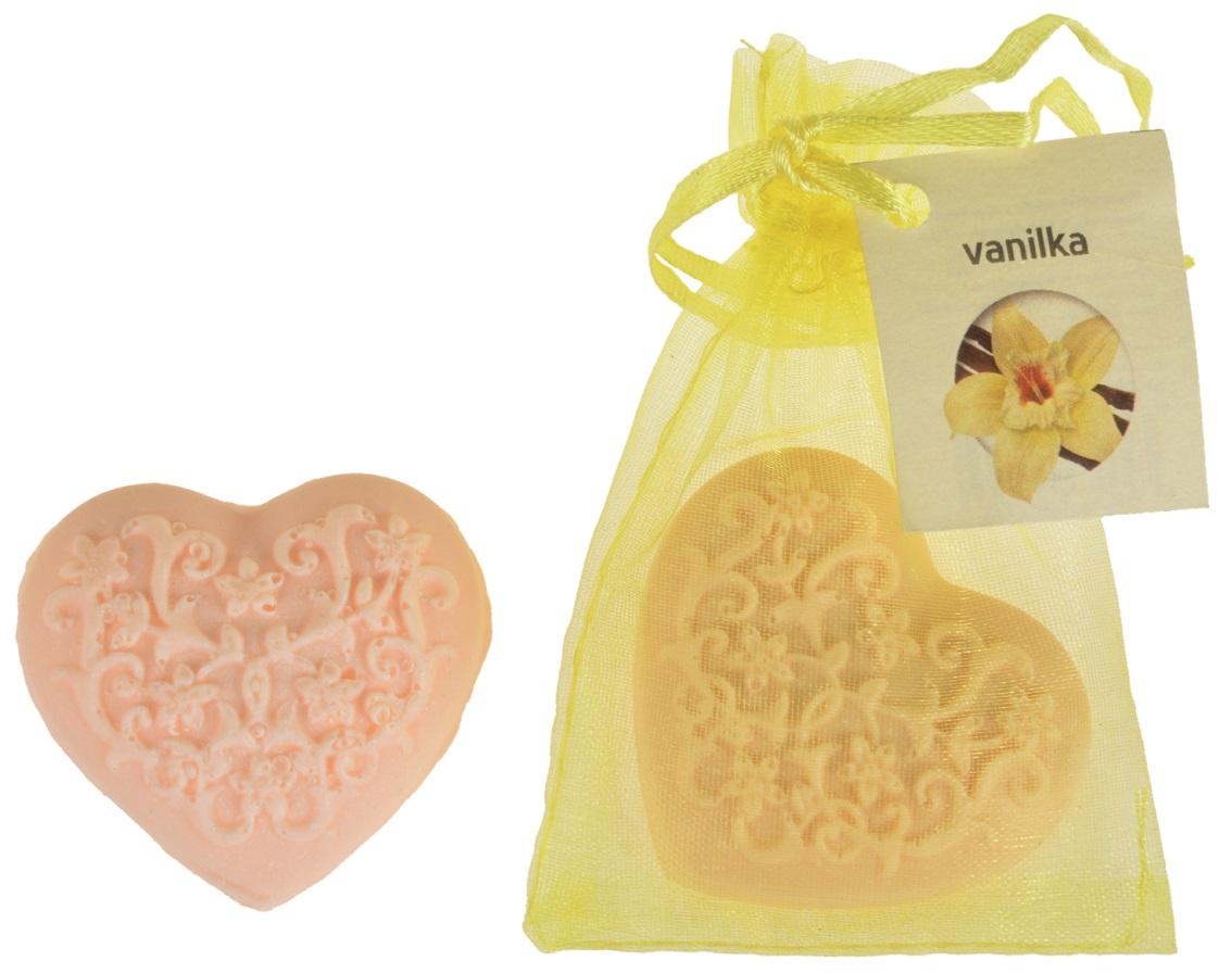 Mýdlo vonné glycerínové srdíčko vanilka, 20 g