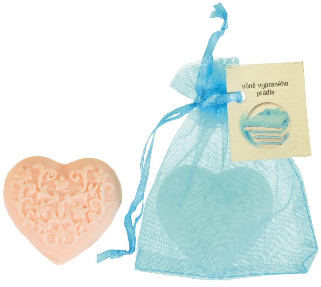 Mýdlo vonné glycerínové srdíčko prádlo, 20 g (14536)