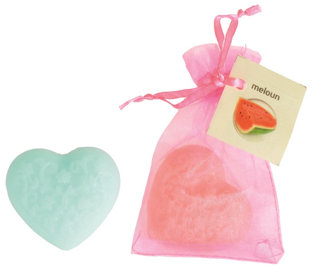 Mýdlo vonné glycerínové srdíčko meloun, 20 g