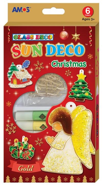 Barvy na skleněné plochy -Vánoční sada 6 barev 10,5 ml + 6 sklíček