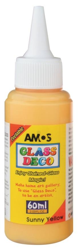 Barvy na skleněné plochy 60 ml - 1. ŽLUTÁ