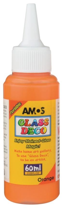 Barvy na skleněné plochy 60 ml - 2. ORANŽOVÁ