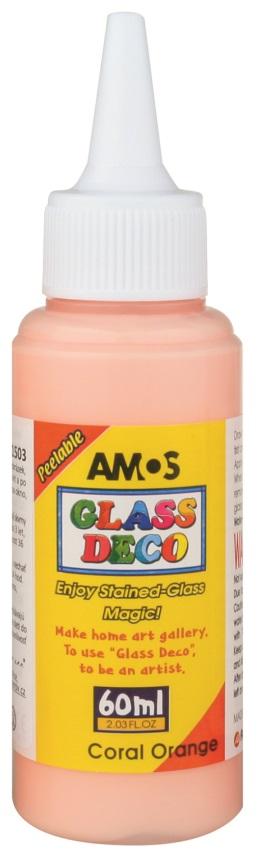 Barvy na skleněné plochy 60 ml - 3. KORÁLOVÁ